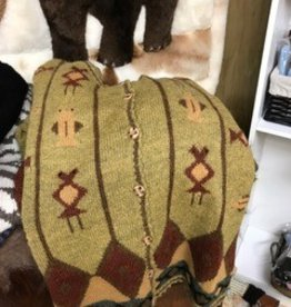 Alpaca Sweater,  S Gold with Pattern