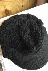 Alpaca Hat, Billed Cap, Small Black