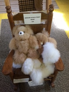 Alpaca Teddy Bears, 12 inch, White, Fawn, Mixed