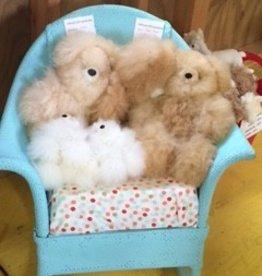 """Alpaca Teddy Bear, Fawn White  7"""""""