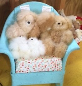 "Alpaca Teddy Bears, 5.5"" White"