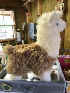 Alpaca, Plush, Fawn and White, 10""
