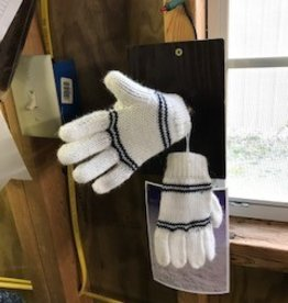 Alpaca Gloves, Child's White