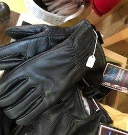 Alpaca Gloves, Leather Black Alpaca Lined, XL.S,L