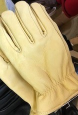 Alpaca Gloves, Tan Leather, Alpaca-Lined XL, S,L
