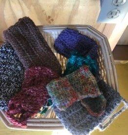 Alpaca Bags, Crocheted, Multicolor