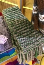 Alpaca Scarf, Gray/Green, Heavy