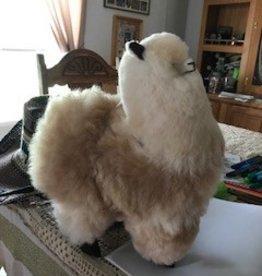 "Alpaca Stuffed, 12"" Fawn/White Standing"