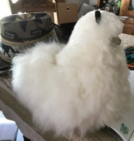"Alpaca Stuffed, 12"" White Cushed"