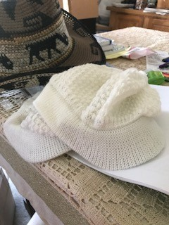 Alpaca Hat, Billed, White