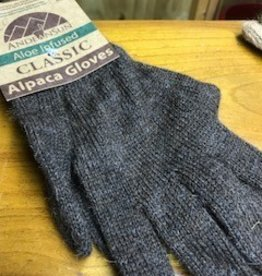 Alpaca Gloves, Rose Gray