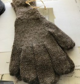 Alpaca Gloves, Brown Boucle M-Lg