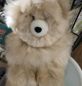 Alpaca Teddy Bear, 12 Inches Beige