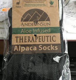 Alpaca Socks, Therapeutic Unisex XL Black