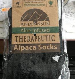 Alpaca Socks, Therapeutic Unisex XL Black