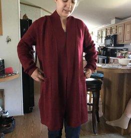 Alpaca Sweater, Gabrielle Merlot, Large