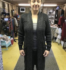 Alpaca Coat Sweater, Large, Charcoal