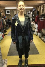 Matrix International Alpaca Coat, Blue L, Beautiful Design, Arlequin