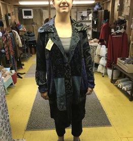 Alpaca Coat, Blue L, Beautiful Design, Arlequin