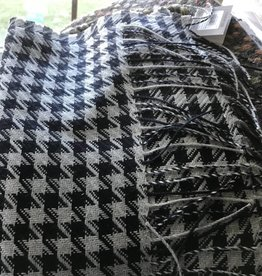Alpaca Scarf, Houndstooth Navy and Gray
