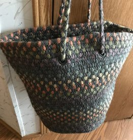Alpaca Knitter's Tote, Blue/Green Accents