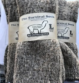 Alpaca Socks, Survival Sock, Crew Length