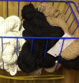Alpaca Yarn, Onyx, DK 2 Ply, Black 64y