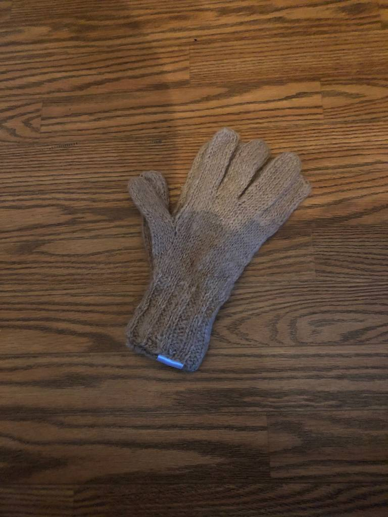 Andean Art Alpaca Gloves, Camel, Medium