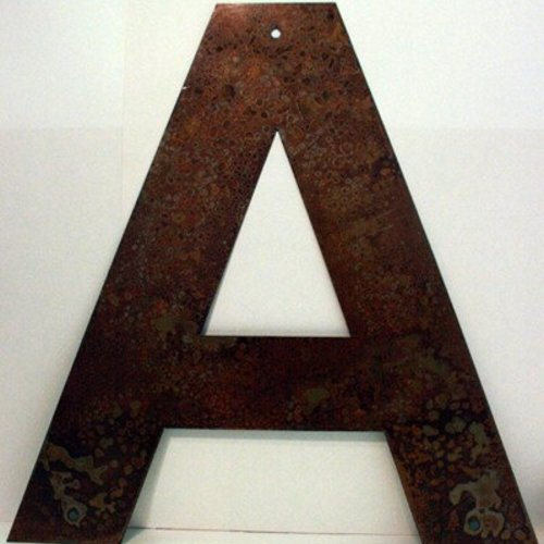 Rusted Metal Letter A 18""
