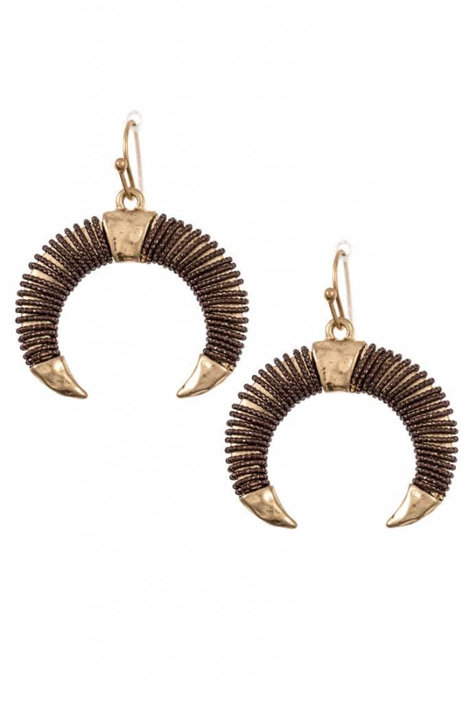 Bull Horn Earring