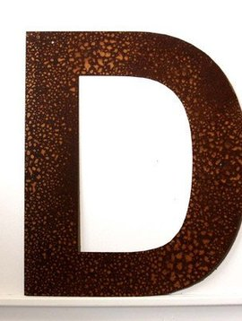 Rusted Metal Letter D 12""