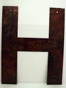 """Rusted Metal Letter H 18"""""""