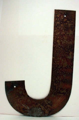 Rusted Metal Letter J 18""