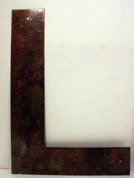 Rusted Metal Letter L 12""