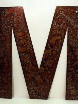 """Rusted Metal Letter M 18"""""""