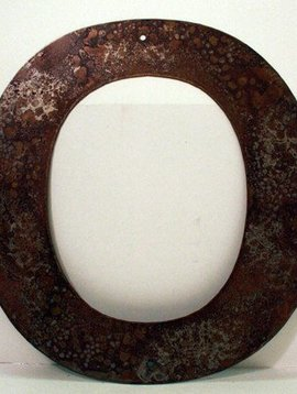 """Rusted Metal Letter O 12"""""""