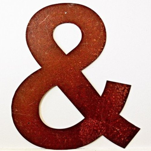 Rusted Metal Ampersand Symbol 12""