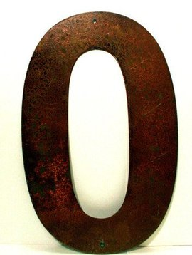 "Rusted Metal Number 0 18"""