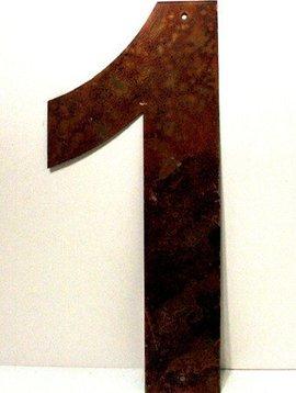 "Rusted Metal Number 1 12"""