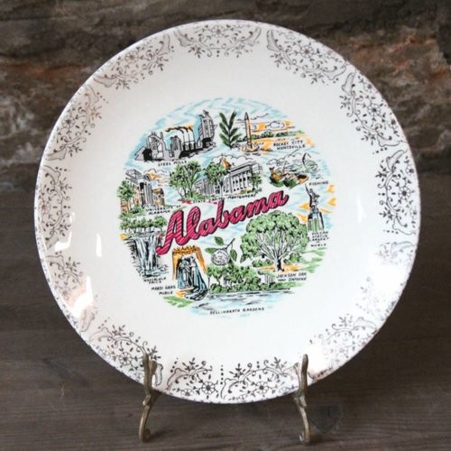 Alabama Souvenir State Plate