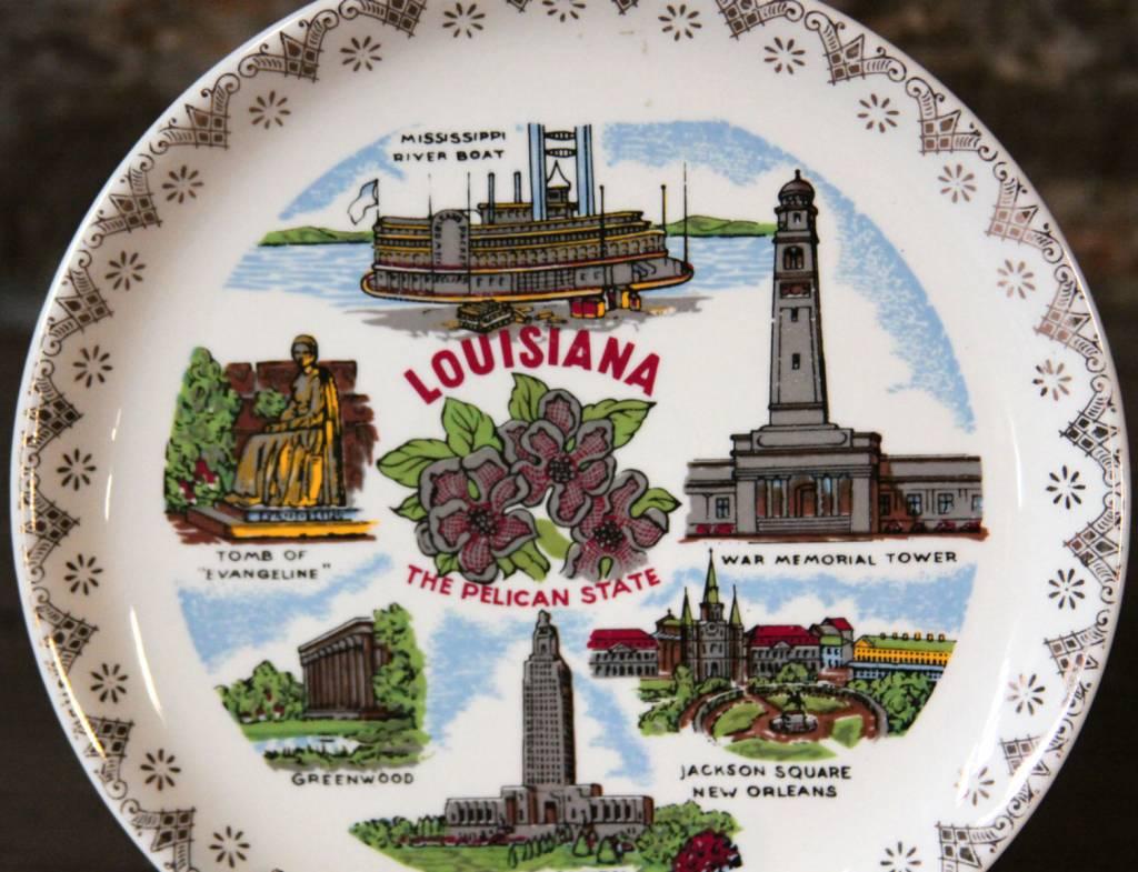 Louisiana Souvenir State Plate
