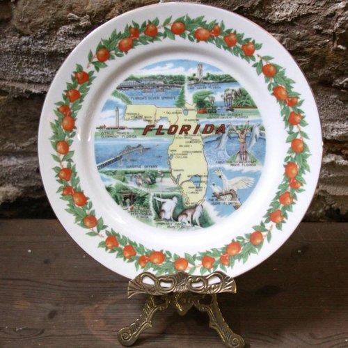Florida Souvenir State Plate