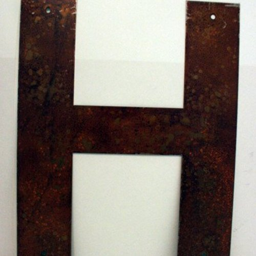 """Rusted Metal Letter H 12"""""""