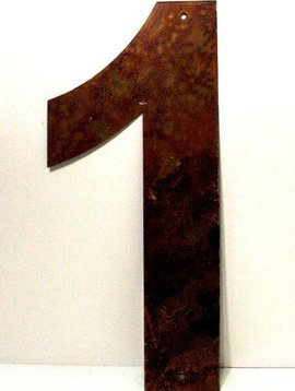 "Rusted Metal Number 1 18"""