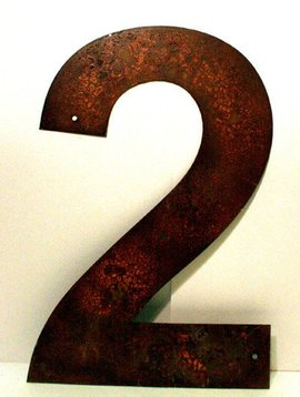 "Rusted Metal Number 2 12"""