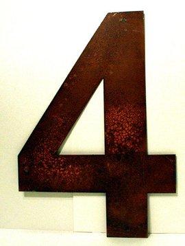 "Rusted Metal Number 4 12"""
