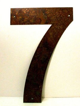 Rusted Metal Number 7 12""