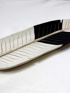 Wood Feather Tray