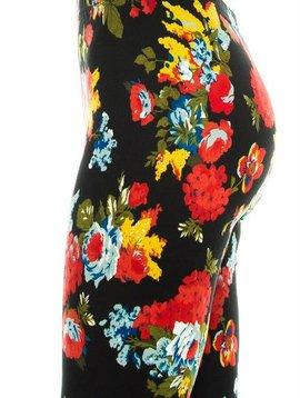 Vibrant Floral Curvy Legging