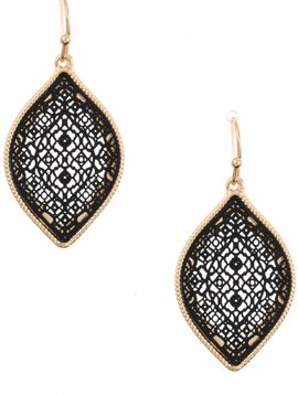 Black Diamond Cutout Earring